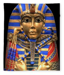 Golden Inner Sarcophagus Of A Pharaoh Fleece Blanket