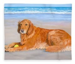 Golden Murphy Fleece Blanket