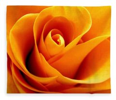 Golden Rose Fleece Blanket