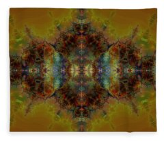Golden Tapestry Fleece Blanket