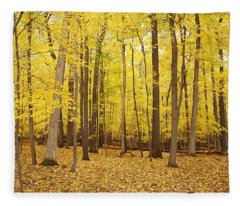 Golden Woods Fleece Blanket