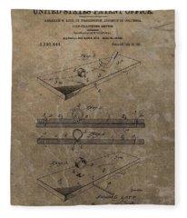 Golf Practice Device Patent Fleece Blanket