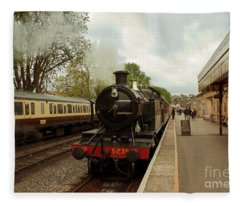 Goliath The Engine And Anna Fleece Blanket