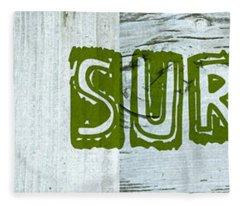 Gone Surfing Fleece Blanket