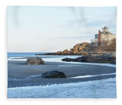 Good Harbor Beach Fleece Blanket
