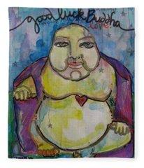 Good Luck Buddha Fleece Blanket