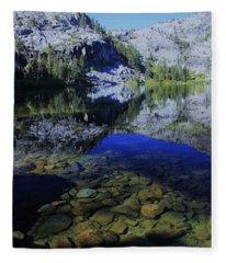 Good Morning Eagle Lake Fleece Blanket