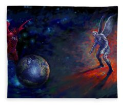Good Vs Evil Fleece Blanket