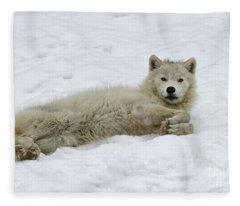 Good Wolfie ... Fleece Blanket