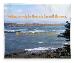 Goodbyes Rumi Quote Fleece Blanket