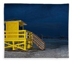 Goodnight Siesta Key Fleece Blanket