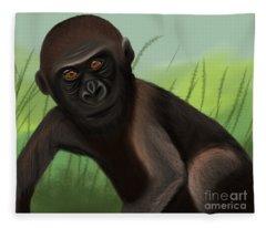 Gorilla Greatness Fleece Blanket