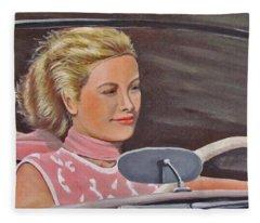 Grace Kelly - To Catch A Thief Fleece Blanket
