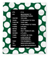 Grammar Rules Fleece Blanket
