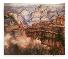 Grand Canyon Arizona - Landscape Art Painting Fleece Blanket