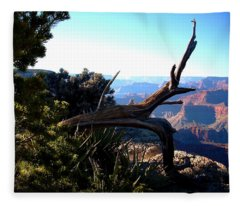 Grand Canyon Dead Tree Fleece Blanket