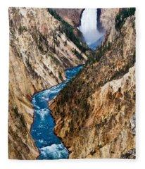 Grand Canyon Of Yellowstone Fleece Blanket