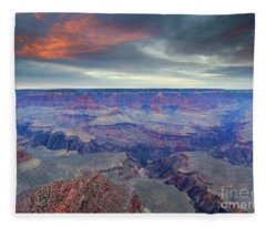 Grand Canyon Storm Set Fleece Blanket