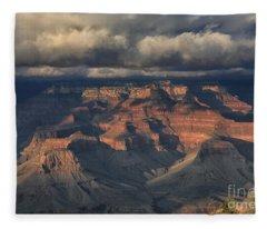 Grand Canyon View Fleece Blanket