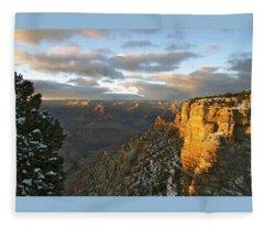 Grand Canyon. Winter Sunset Fleece Blanket