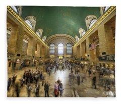Grand Central Rush Fleece Blanket