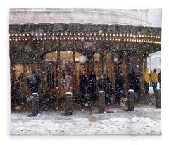 Grand Central Terminal Snow Color Fleece Blanket