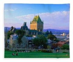 Grand Hotel In A City, Chateau Fleece Blanket
