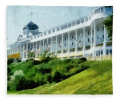 Grand Hotel Mackinac Island Ll Fleece Blanket