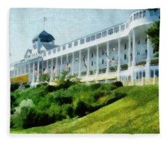 Grand Hotel Mackinac Island Ll Fleece Blanket
