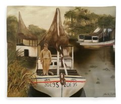 Grand Paw Domangue Fleece Blanket