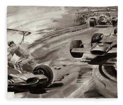Grand Prix Problems Fleece Blanket
