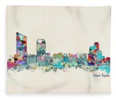 Grand Rapids Michigan Fleece Blanket