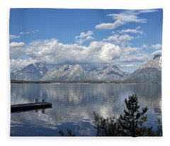 Grand Tetons In The Morning Light Fleece Blanket