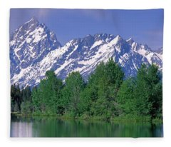 Grand Tetons National Park Wy Fleece Blanket