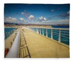 Grand Traverse Bay Fleece Blanket