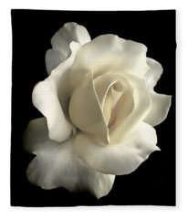 Grandeur Ivory Rose Flower Fleece Blanket