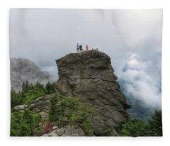 Grandfather Mountain Hikers Fleece Blanket