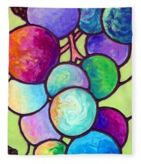 Fleece Blanket featuring the painting Grape De Chine by Sandi Whetzel
