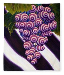 Fleece Blanket featuring the painting Grape De Menthe by Sandi Whetzel