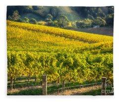 Grape Expectations Fleece Blanket