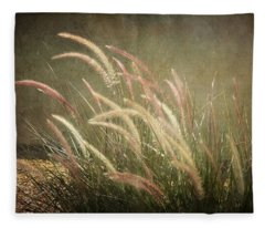 Grasses In Beauty Fleece Blanket