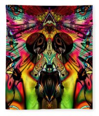 Grateful Desert Skull Fleece Blanket