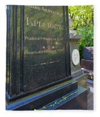 Grave Of Ivan Krylov, Tikhvin Cemetery Fleece Blanket
