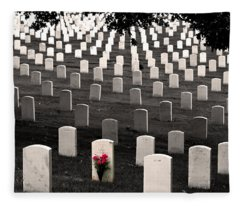 Graves At Arlington National Cemetery Fleece Blanket