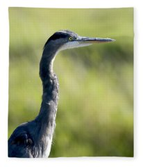 Great Blue Heron Backlit Fleece Blanket
