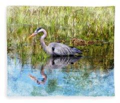 Great Blue Hunter Fleece Blanket