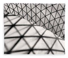 Great Court Abstract Fleece Blanket