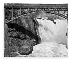 Great Falls In Paterson Nj Fleece Blanket