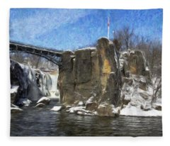 Great Falls Painted Fleece Blanket