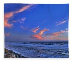 Great Highway Sunset Fleece Blanket